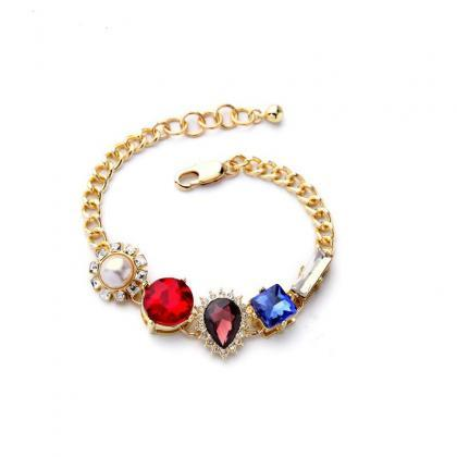 Charming Concise Style Crystal Imit..
