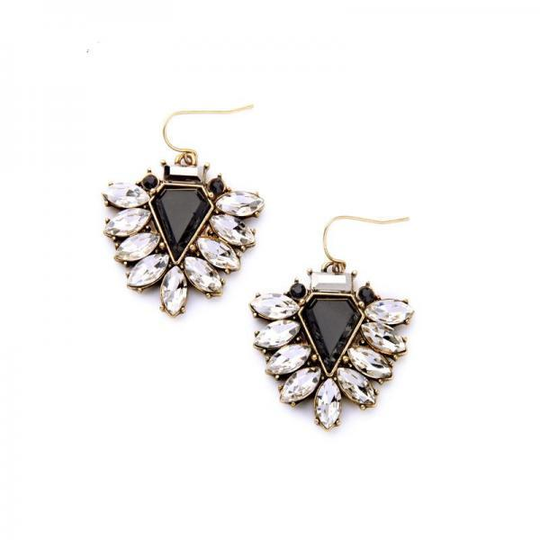 Clearly Statement Jewelry Women Fashion Hook Dangle Earrings EH056