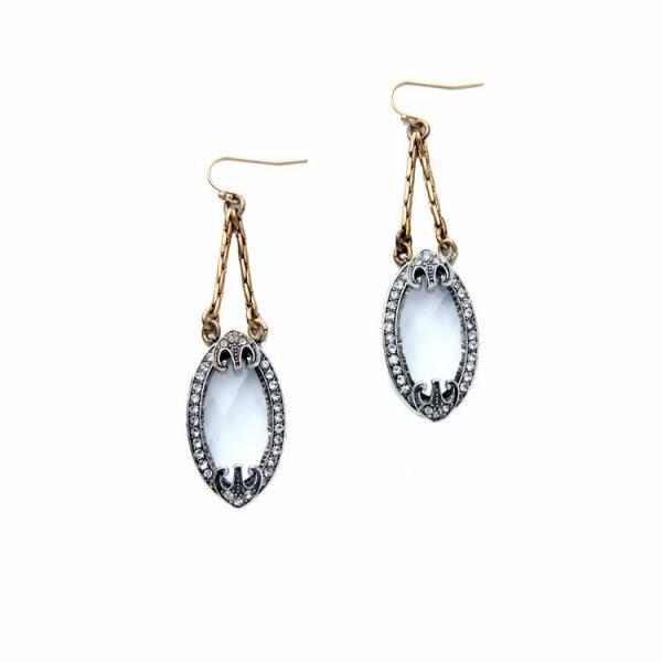 New Design Royal Style Clearly Oval Crystal Evening Party Classic Dangle Earrings EH057