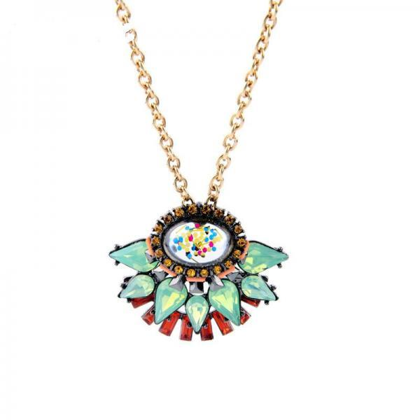 Concise Style Fashion Geometric Retro Alloy Spring Pendant Necklace Fashion Jewelry NL053